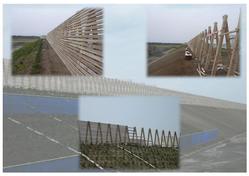 A型防風柵 宮崎市 モックル処理材使用